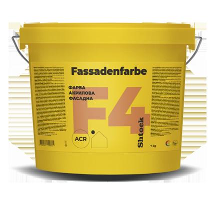 F4 Фарба акрилова фасадна, 7 кг