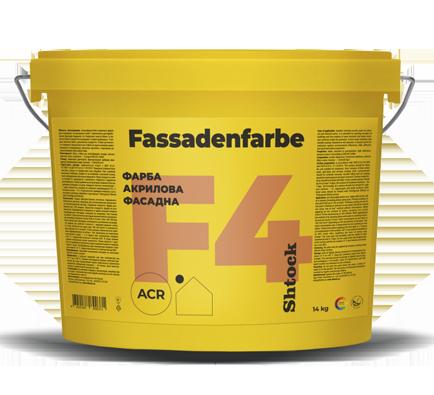 F4 Фарба акрилова фасадна, 14 кг