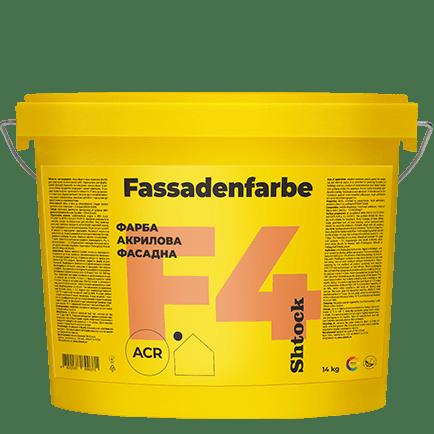 F4 Краска акриловая фасадная Fassadenfarbe, 14 кг