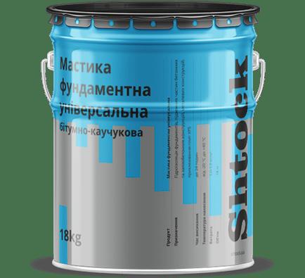 Мастика бітумно-каучукова фундаментна, 18 кг