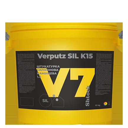 V7 Штукатурка силиконовая «Камешковая» 1,5 мм Verputz SIL K15, 25 кг