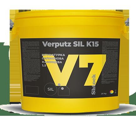 """Shtock """"Камінцева"""" Verputz SIL K15 (V7) база А/C, 25 кг"""