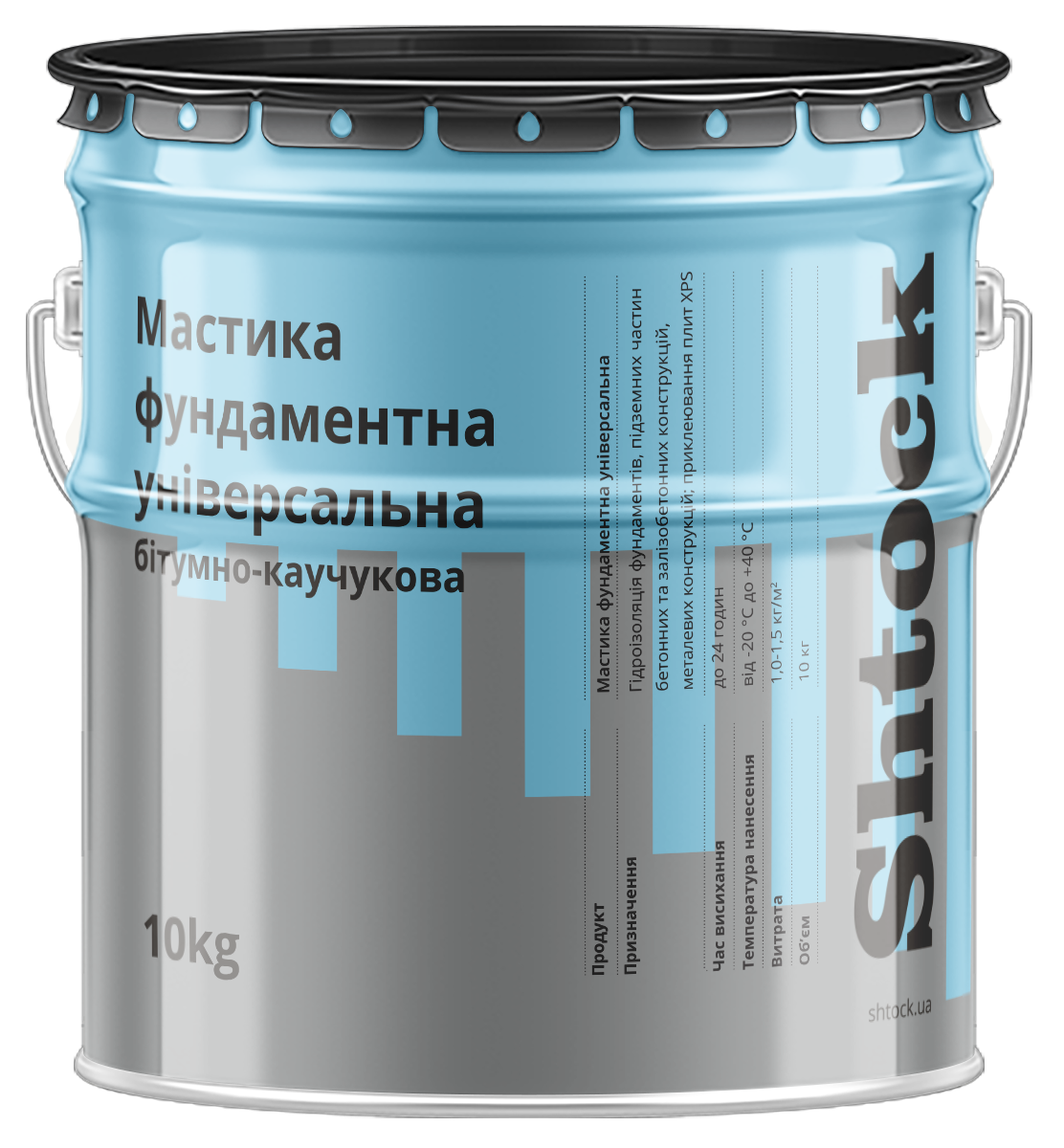Мастика бітумно-каучукова фундаментна, 10 кг