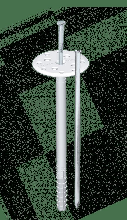 Дюбель для крепления теплоизоляции со стальным оцинкованным стержнем